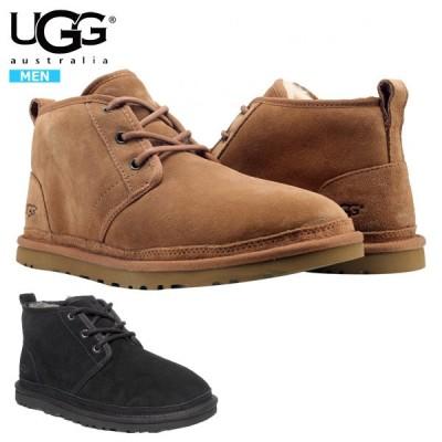UGG アグ ムートンブーツ ニューメル メンズ ファー レースアップ ブーツ 靴 暖かい スエード ボア ^NEUMEL 3236【ug004】^