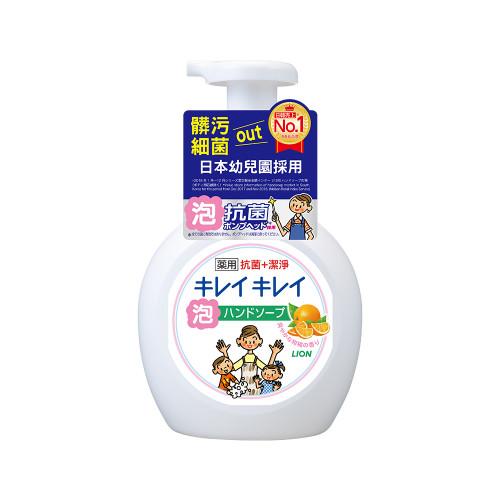 日本獅王趣淨洗手慕斯-清爽柑橘