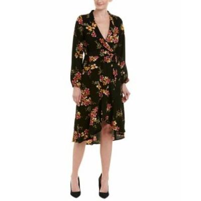 Bobeau ボビュ ファッション ドレス Bobeau Faux Wrap Dress Xs Black