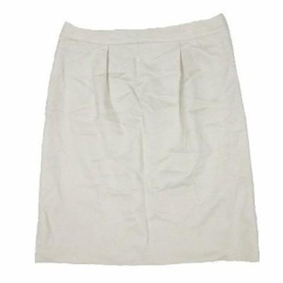 【中古】アンタイトル UNTITLED スカート ひざ丈 タック ボトムス サイズ1 ライトベージュ レディース