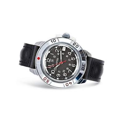 VOSTOK   メンズ コマンダスキー クラシック コマンダー ロシア軍スタイル 機械式腕時計   783シリーズ 431783 レザー