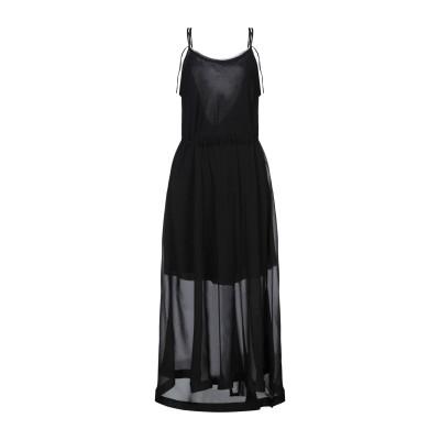 イザベル・ベネナート ISABEL BENENATO ロングワンピース&ドレス ブラック 40 シルク 100% ロングワンピース&ドレス