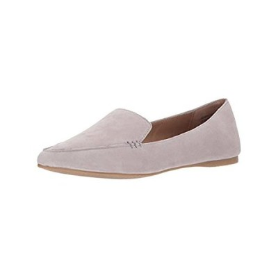 Steve Madden Women's Feather Loafer Flat, Grey Suede, 6.5 M US