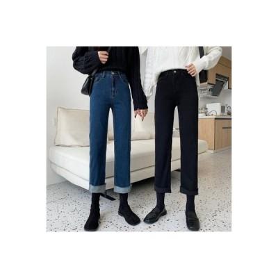 【送料無料】何でも似合う 手厚い ストレッチ ハイウエスト 着やせ 女性のジーンズ 秋 韓国風 新し | 364331_A64117-1762400