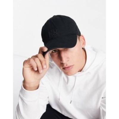 ヘリーハンセン メンズ 帽子 アクセサリー Helly Hansen logo cap in black Black