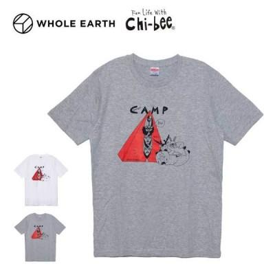 Chi-bee チービー × ホールアース Tシャツ 半袖 メンズ GOODNIGHT CAMP C×W S/S TEE WHOLE EARTH メール便 [210308]