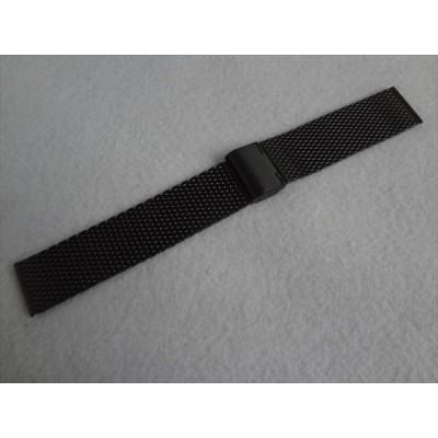 Citizen 純正 インディペンデント 22mm メッシュ 腕時計バンド BA5-848-51用 黒 ステンレスベルト