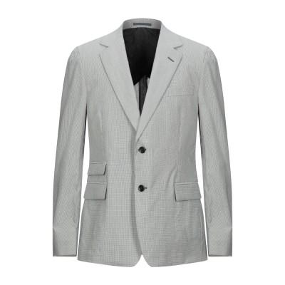 SAINT LAURENT テーラードジャケット グレー 54 ウール 57% / コットン 43% テーラードジャケット