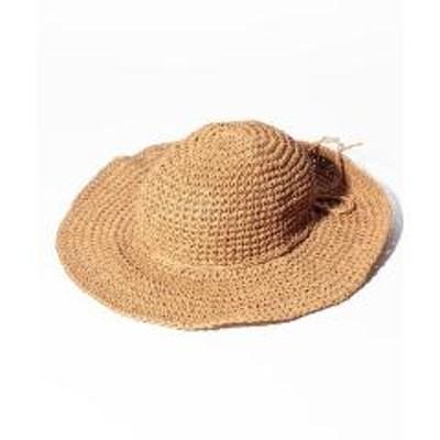 BASE(ベース)つば広ワイヤー入りレディース麦わら帽子