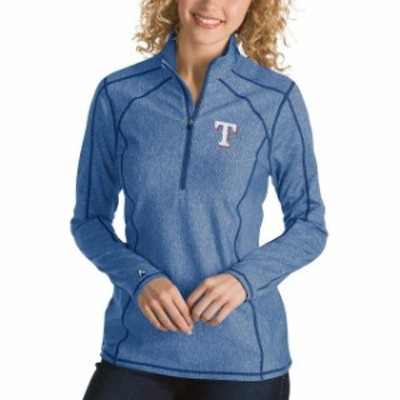 Antigua アンティグア アウターウェア ジャケット/アウター Antigua Texas Rangers Womens Heathered Royal Tempo