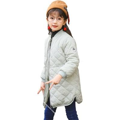 ダウンコート 女の子 キッズ/ジュニア 冬物 軽量 厚手 前開き お洒落 防寒 軽量 かわいい 暖かい アウターコート ダウンジャケット