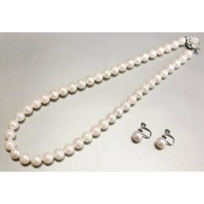 【13-2-1】真珠 ネックレス・イヤリング 2点組み 鑑別書付き【菊地質店】