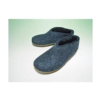 glerups dk グリオプス Shoe ヒール付きルームシューズ ((38) 24.0cm, 2.Denim(デニム))