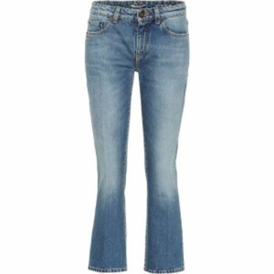 イヴ サンローラン Saint Laurent レディース ジーンズ・デニム ボトムス・パンツ Cropped jeans Blue