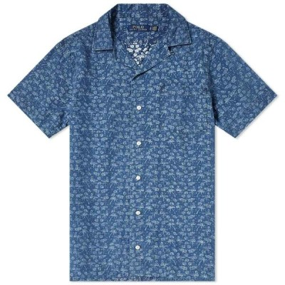 ラルフ ローレン Polo Ralph Lauren メンズ 半袖シャツ トップス Short Sleeve Dobby Print Vacation Shirt Flamingo Palm Tree