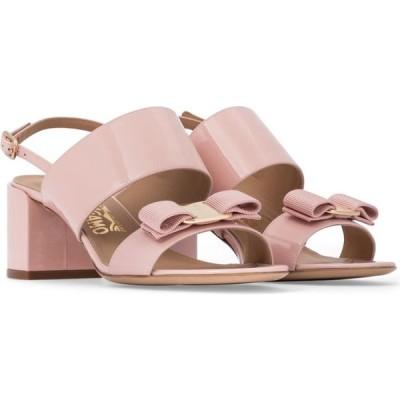 サルヴァトーレ フェラガモ Salvatore Ferragamo レディース サンダル・ミュール シューズ・靴 vara bow patent leather sandals Nylund Pink