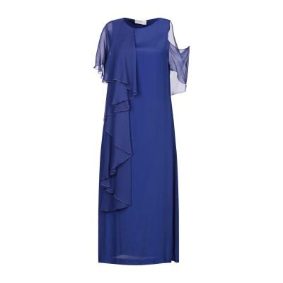RAME 7分丈ワンピース・ドレス ブルー 1 アセテート 87% / シルク 13% 7分丈ワンピース・ドレス