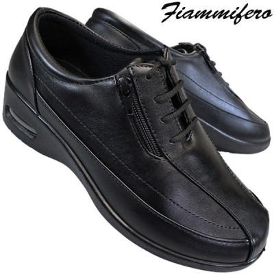Fiammifero コンフォートシューズ PF-9023 レディース 黒 ブラック 22.5cm〜24.5cm