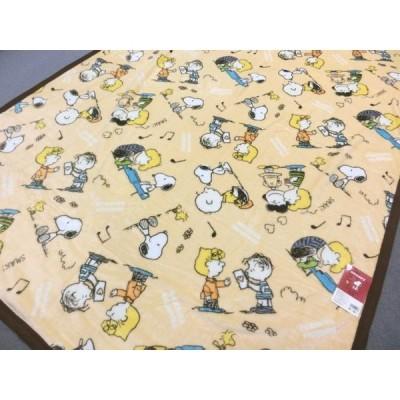 西川 スヌーピー やわらか毛布 シングルサイズ 140x200cm 2275-55596 クリーム