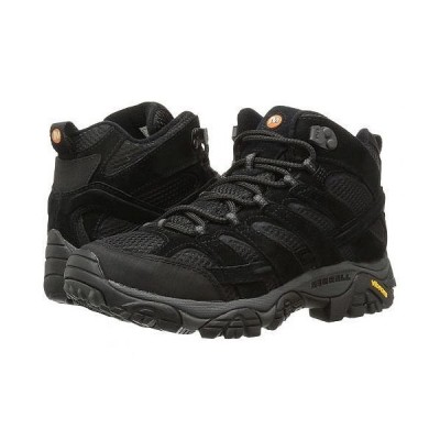 Merrell メレル メンズ 男性用 シューズ 靴 ブーツ ハイキング トレッキング Moab 2 Vent Mid - Black Night