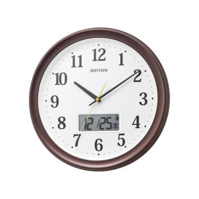 RHYTHM フィットウェーブリブ電波掛時計