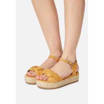 レディース サンダル AMELIE - Platform sandals - mustard yellow
