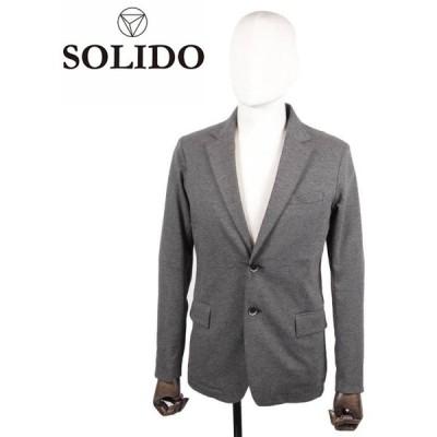 【国内正規品】SOLIDO ソリード 2B シングルテーラードジャケット 度詰め鹿の子 MSL20A4002 チャコールグレー