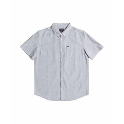 クイックシルバー メンズ シャツ トップス Men's Short Sleeve Oxford Shirt Iron Gate