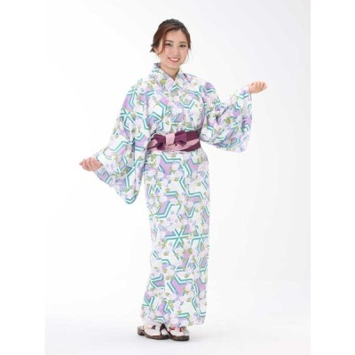 【浴衣と帯のセット】日本製 紫陽花(あじさい) 旅館浴衣