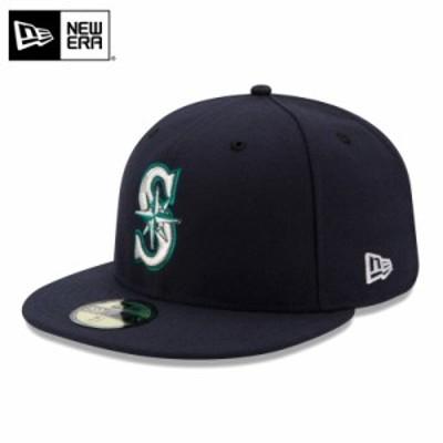 【T】【メーカー取次】 NEW ERA ニューエラ 59FIFTY MLB On-Field シアトル・マリナーズ ネイビー 11449340 キャップ / ミリタリー メン