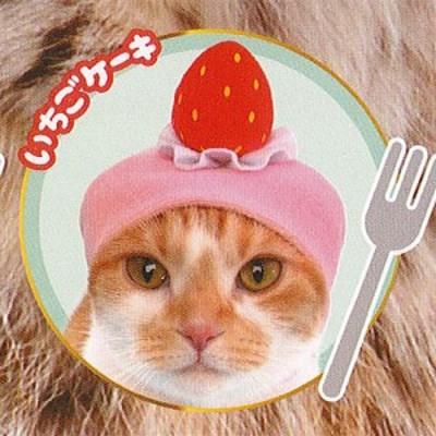 ねこのへんしん コスチューム パティシエ にゃんこ 3:いちごケーキ エール ガチャポン ガチャガチャ ガシャポン