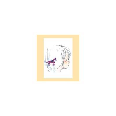 ポストカード No.17『紫色の馬と少女』