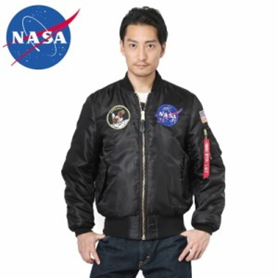 NASA公式 OFFICIAL ナサ オフィシャル APOLLO MA-1 フライトジャケット BLACK / ミリタリー メンズ レディース ポイント消化  男性 女性