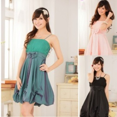 ミニドレス パーティードレス タイトスカート ミニ ドレス ワンピース 大きいサイズ バルーンスカート ノースリーブ
