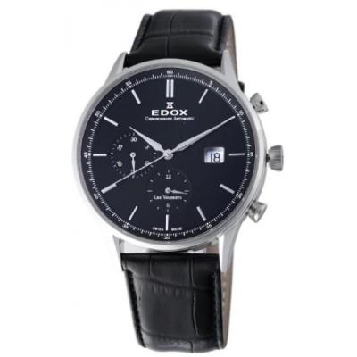 エドックス 腕時計 メンズウォッチ Edox Men's 91001 3 NIN Les Vauberts Chronograph Watch
