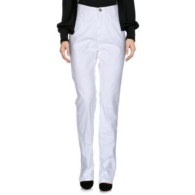 ブルー レ・コパン BLUE LES COPAINS パンツ ホワイト 40 97% コットン 3% ポリウレタン パンツ