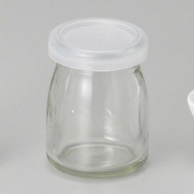 (業務用・保存容器)蓋付デザート瓶ヨーグルト(ガラス)[74442-278](入数:5)