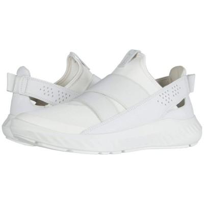 エコー ECCO レディース スリッポン・フラット シューズ・靴 ST.1 Lite Slip-On White/White/White Textile/Textile/Cow Leather
