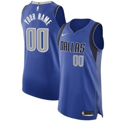 ナイキ メンズ Tシャツ トップス Dallas Mavericks Nike 2020/21 Authentic Custom Jersey Royal Icon Edition