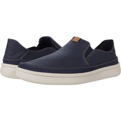 クラークス Clarks メンズ スニーカー シューズ・靴 Cantal Step Navy Canvas