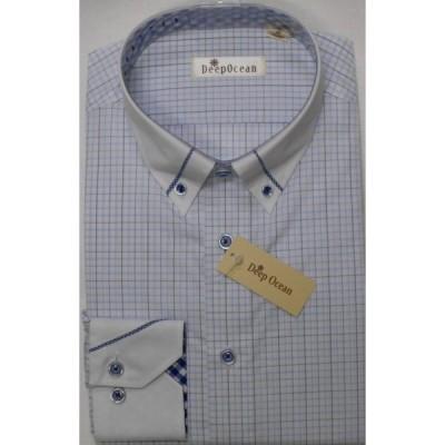 Deep Ocean 高級ワイシャツ すっきりシルエット 形態安定 40-84