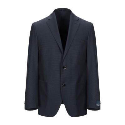 EDUARD DRESSLER テーラードジャケット ダークブルー 46 バージンウール 100% テーラードジャケット