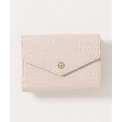 Samantha Thavasa Petit Choice / クロコ型押し中折財布 WOMEN 財布/小物 > 財布