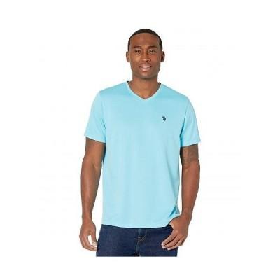 U.S. POLO ASSN. USポロ メンズ 男性用 ファッション Tシャツ Performance V-Neck T-Shirt - Horizon Blue