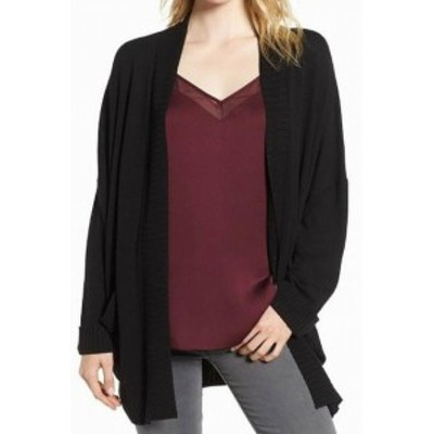 Chelsea28 チェルシートウェンティエイト ファッション トップス Chelsea28 Womens Black Size XS/S Small Open-Front Cardigan Sweater