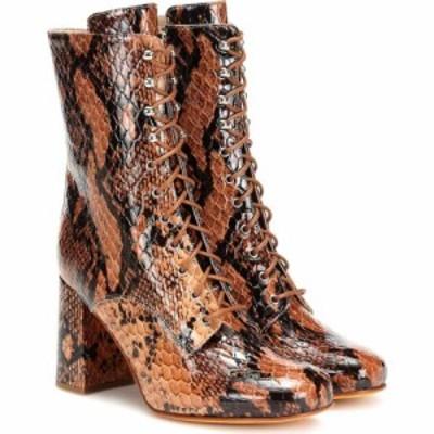 マリアム ナッシアー ザデー Maryam Nassir Zadeh レディース ブーツ ショートブーツ シューズ・靴 emmanuelle snake-effect ankle boots