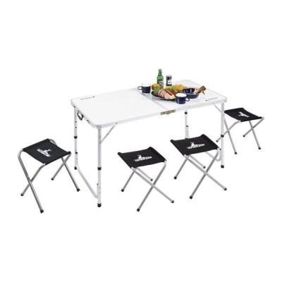キャプテンスタッグ ラフォーレ テーブル・チェアセット(4人用) UC-0004