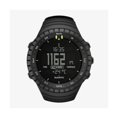 スント メンズ用腕時計 Suunto Men's Core All Black SS014279010 Resin Quartz Sport Watch