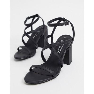 ニュールック New Look レディース サンダル・ミュール シューズ・靴 Flare Heeled Strappy Sandals In Black ブラック