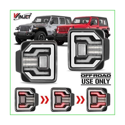 Winjet Renegadeシリーズ [2018 2019 2020 Jeep Wrangler JL] DRL LEDシーケンシャルテールライト(クリアリフレクター付